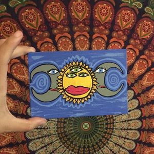 Third eye sun goddess painting